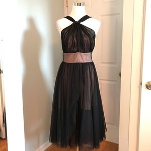 Oasis Black Tulle Cocktail Dress Size 10
